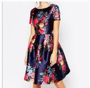 Modcloth Chi Chi Amber Floral Dress UK 6 US 2